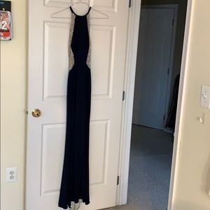 Gorgeous navy blue & sequin formal gown